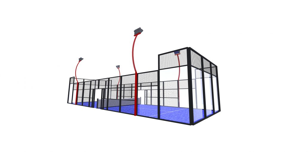 Padel, padelbana Single